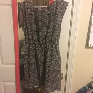 black & white dress medium women's F21